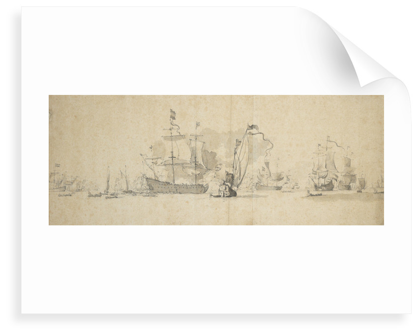 A council of war in the Dutch fleet, May 1665? by Willem Van de Velde the Younger