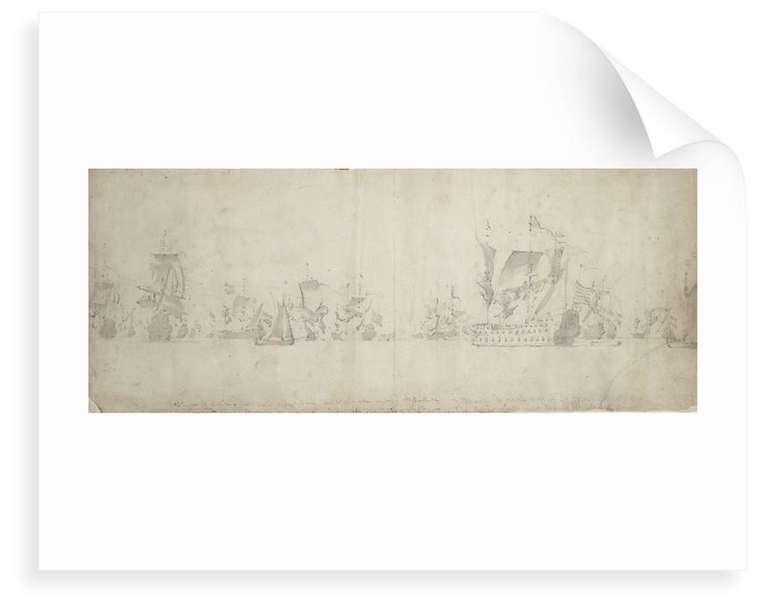 Dutch fleet after the council-of-war, 8-18 August 1665 by Willem van de Velde the Elder