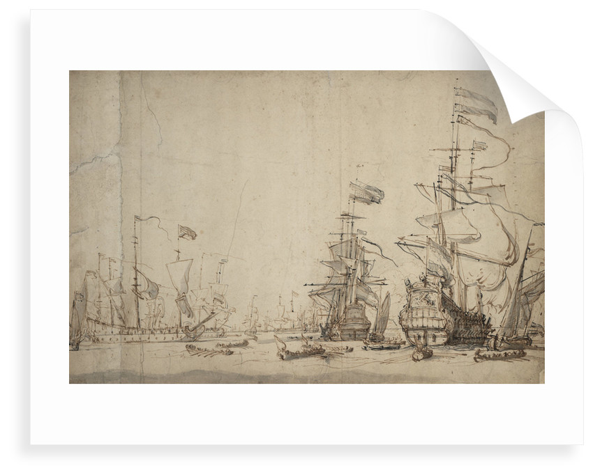 A council-of-war in the Dutch fleet? May 1665 by Willem Van de Velde the Younger