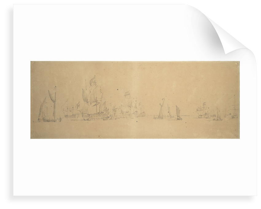 The Dutch fleet in light airs by Willem van de Velde the Elder