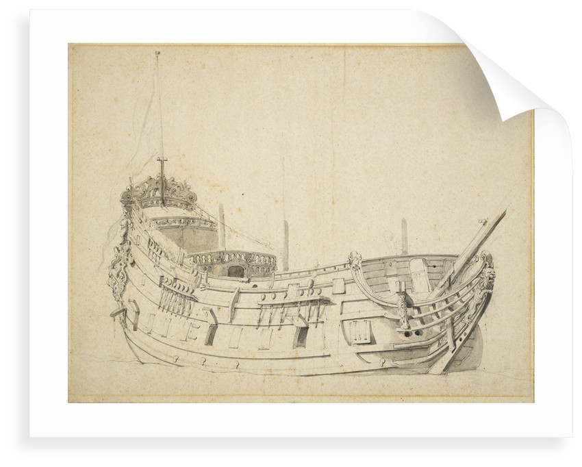 Portrait of a Dutch frigate by Willem Van de Velde the Younger