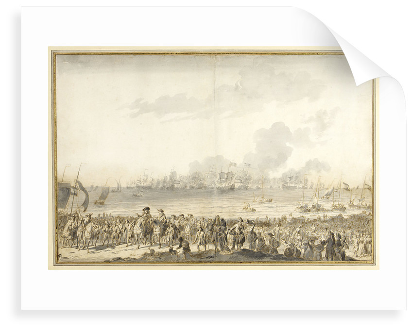 Disembarkation of William III at l' Orange Polder, 1691 by Ludolf Bakhuizen