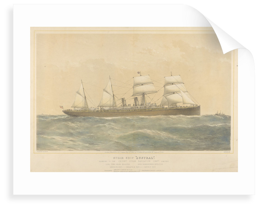 Steam ship Austral belonging to the Orient Steam Navigation Company Limited by Thomas Goldsworth Dutton