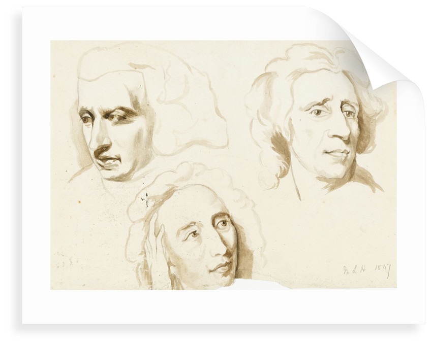 Three sketches of a woman's face by Margaret Louisa Herschel