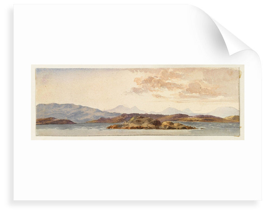 The Island of Mull from Crinan bay by Margaret Louisa Herschel