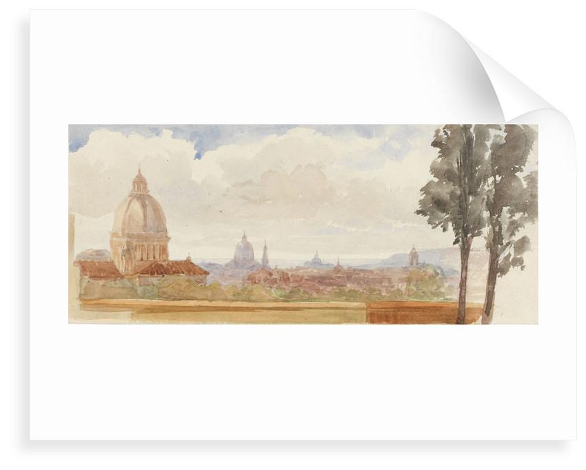 View of churches in Rome by Matilda Rose Herschel