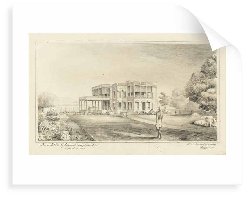 Dr Duncan Stewart's residence Chouringee by Edward F. Lingham