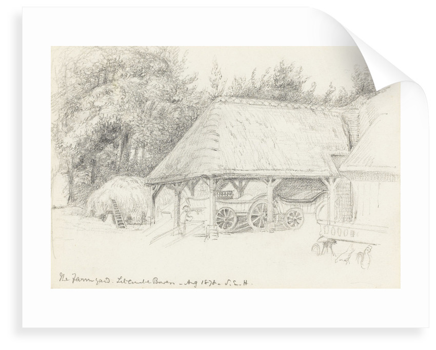 The Farmyard. Litcombe Bowers - Aug 1878 by S.E. Hardcastle