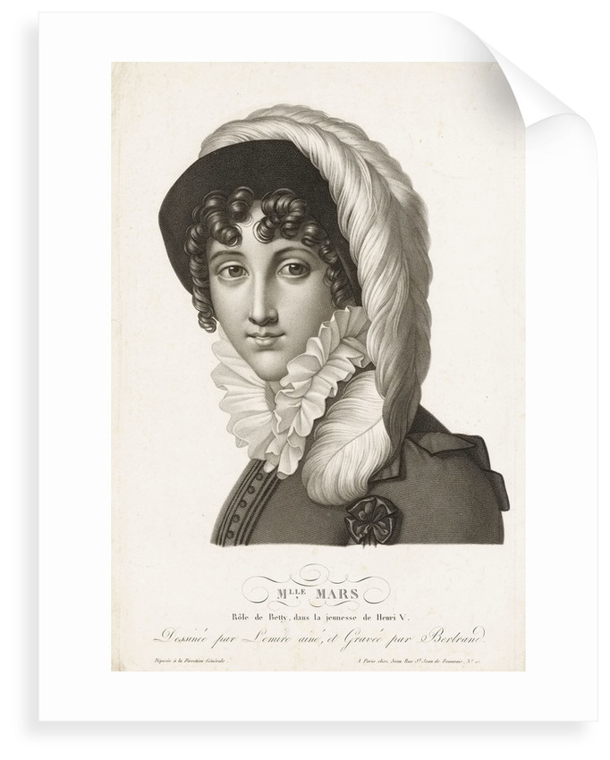 Mlle Mars. Role de Betty, dans la jeunesse de Henri V by Joseph Lemire the Elder