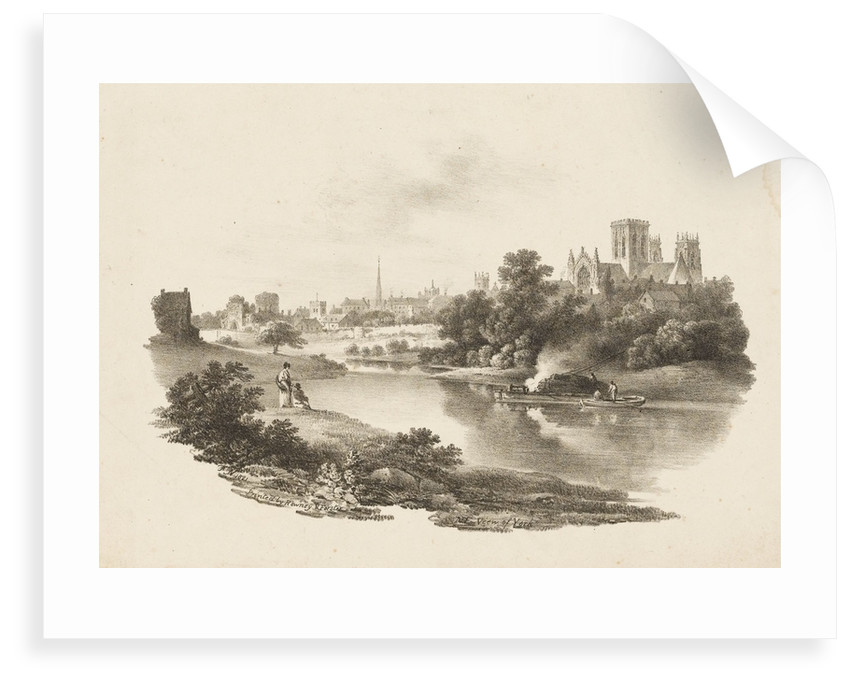 N E View of York by F. N.