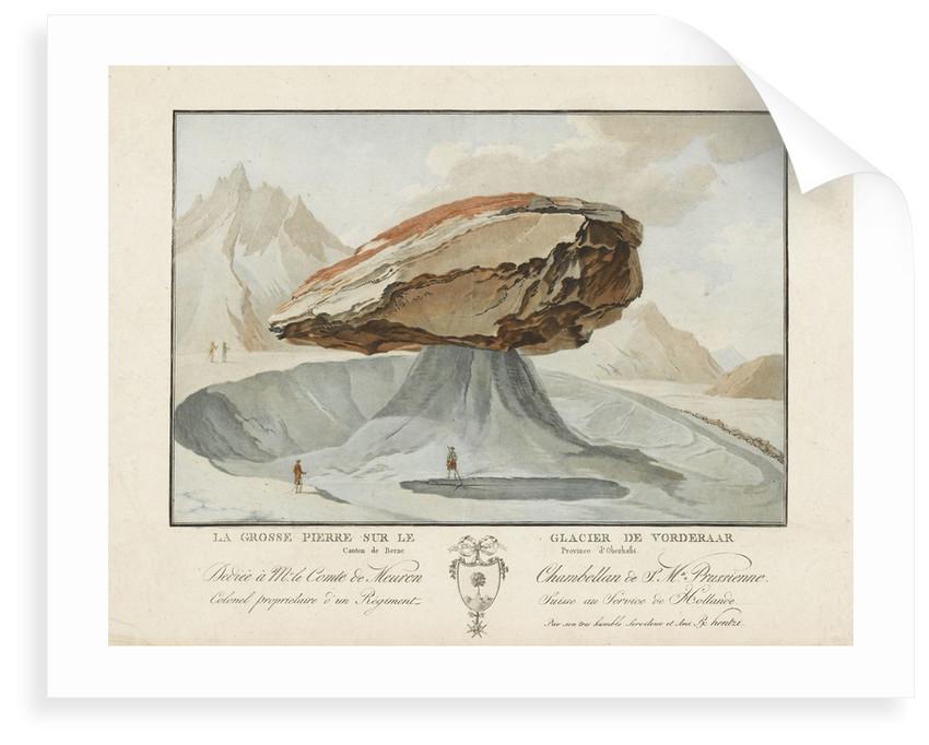 La Grosse Pierre sur le Glacier de Vorderaar. Canton de Berne Province d'Oberhasbi by unknown