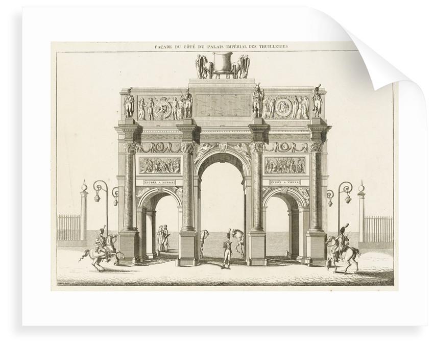 View of the Arc de Triomphe du Carrousel, Paris by Charles Percier
