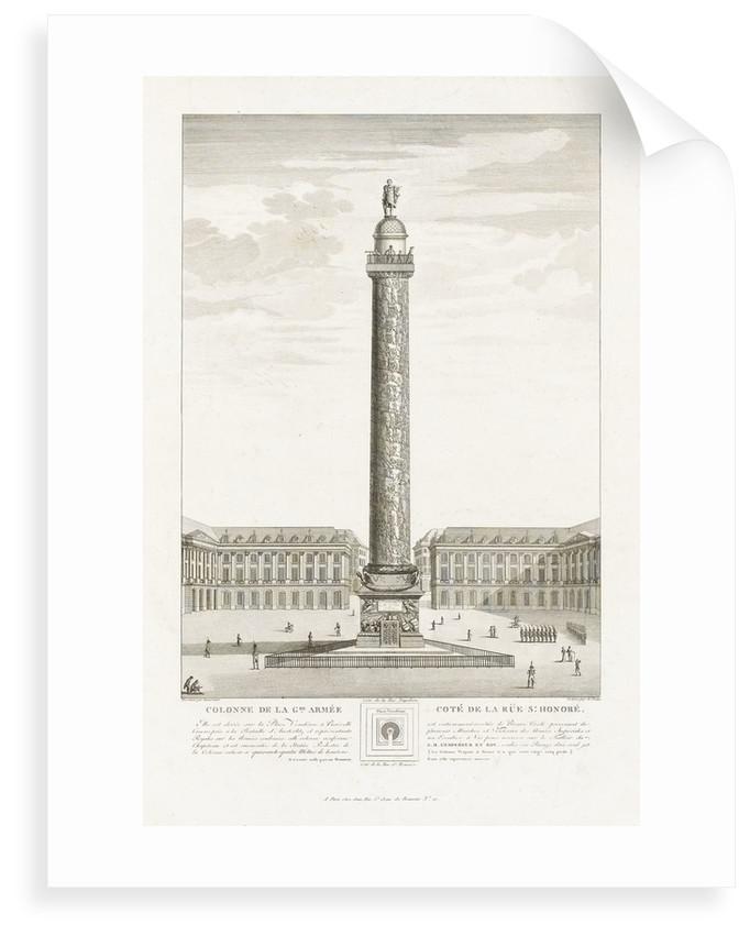 Colonne de la Gde Armee. Cote de la Rue St Honore by Toussaint
