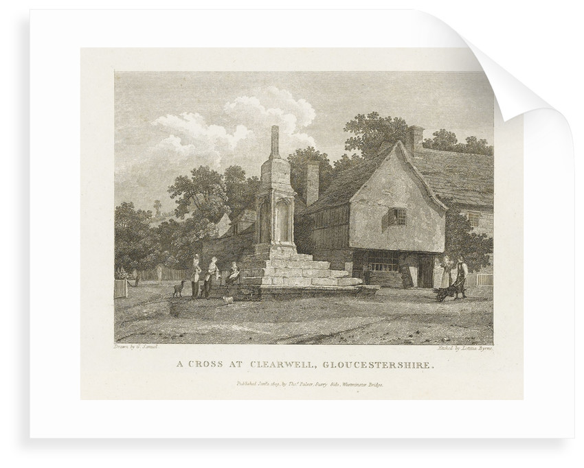 A Cross at Clearwell, Gloucestershire by George Samuel