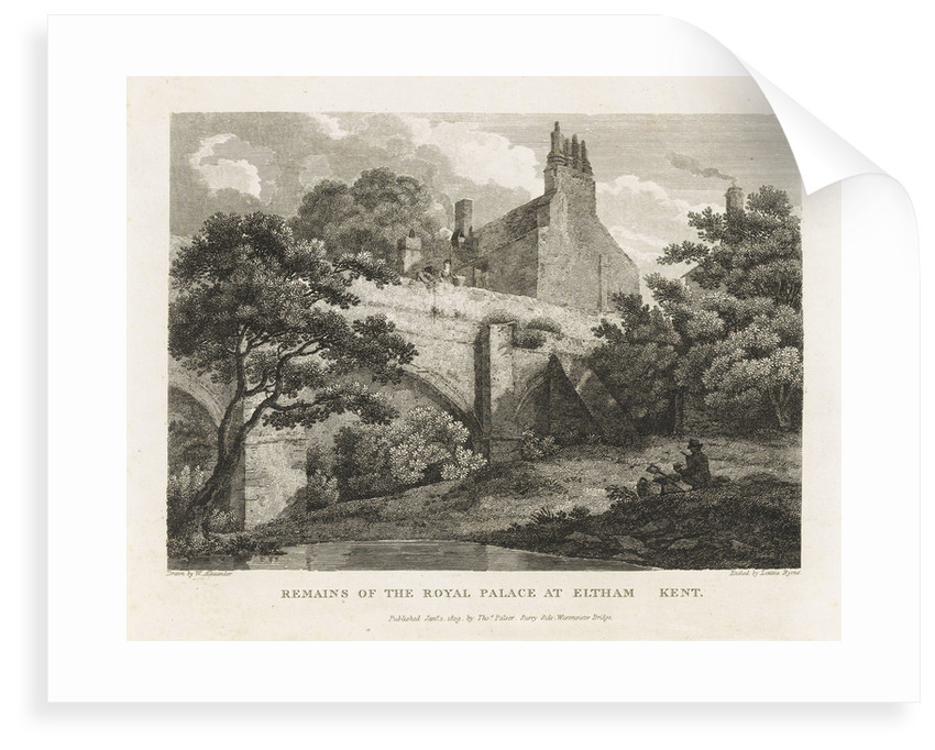 Remains of the Royal Palace at Eltham Kent by William Alexander