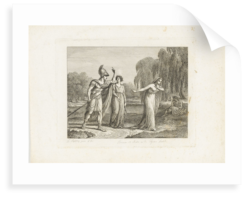 Aeneas and Dido in the Elysean fields by Frederick Rehburg
