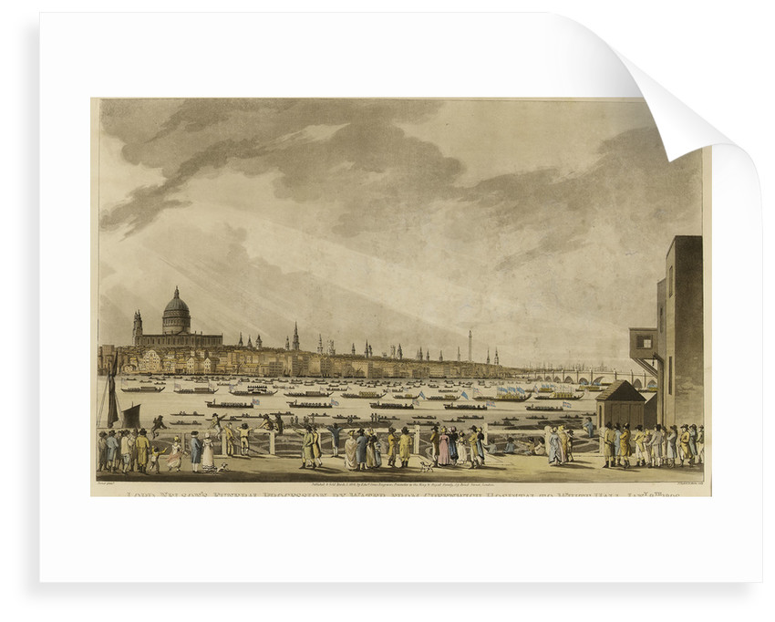 Lord Nelson's Funeral Procession by Water from Greenwich Hospital to White-Hall, Jany 8th 1806 by Turner