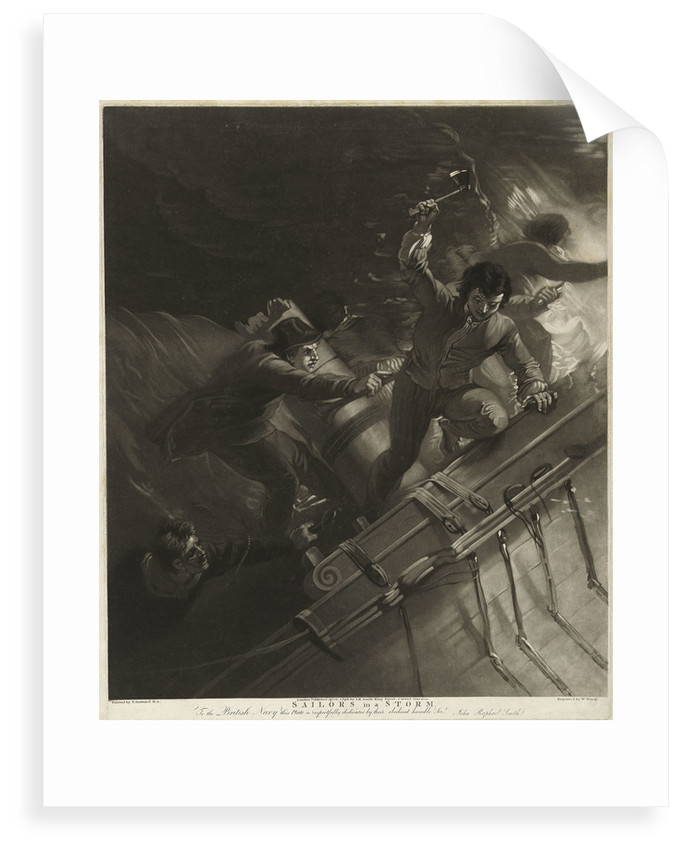 Sailors in a storm by Thomas Stothard