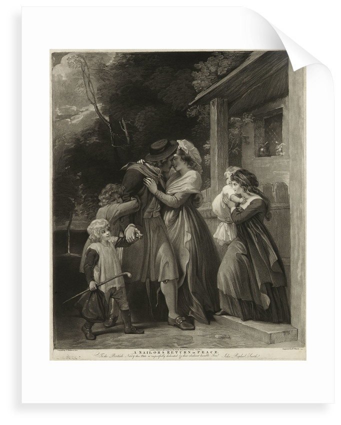 A sailor's return in peace by Thomas Stothard