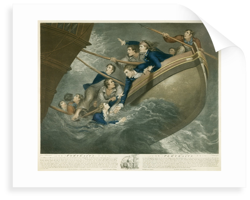 Portraits of the Officers and Men who were preserv'd from the Wreck of the Centaur by James Northcote