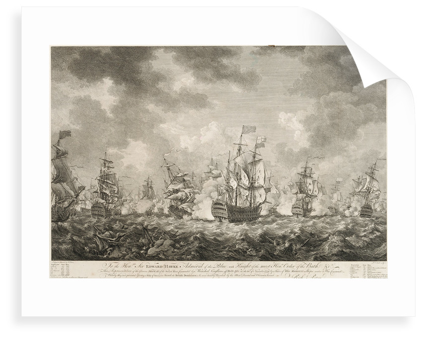 The defeat of the French fleet off Belle-Isle on the 20 November 1759 by Richard Paton