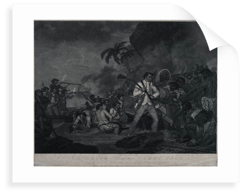 The death of Captain James Cook by the Indians of Owhyee, one of the Sandwich Islands by George Carter