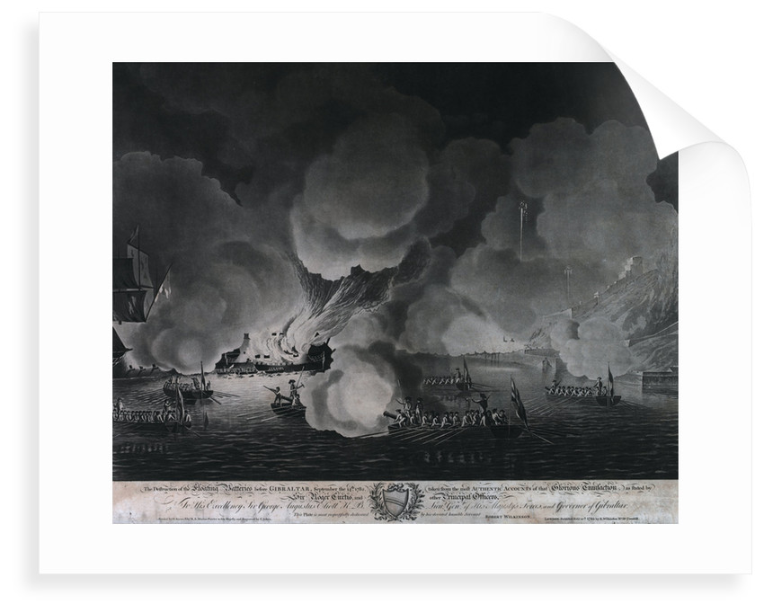 The destruction of the floating batteries before Gibraltar, 14 September 1782 by Dominic Serres