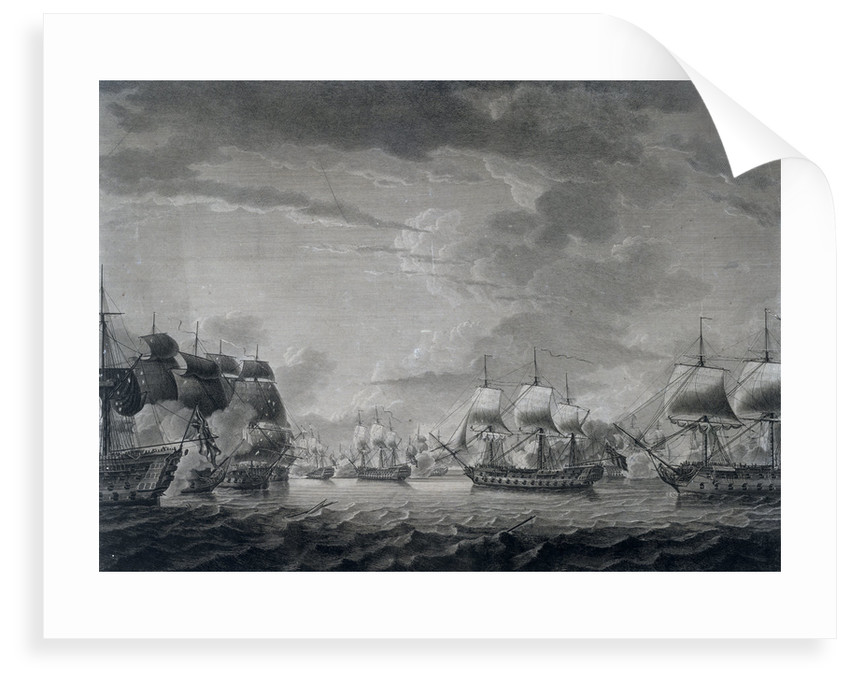 The scene between the 'Dominica' and 'Guadeloupe' in the West Indies, 12 April 1782 by Robert Dodd