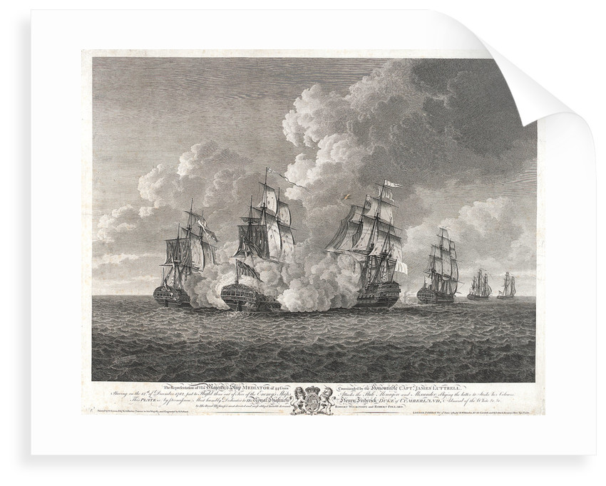 HMS 'Mediator' chasing the 'Menagere' by Nicholas Pocock