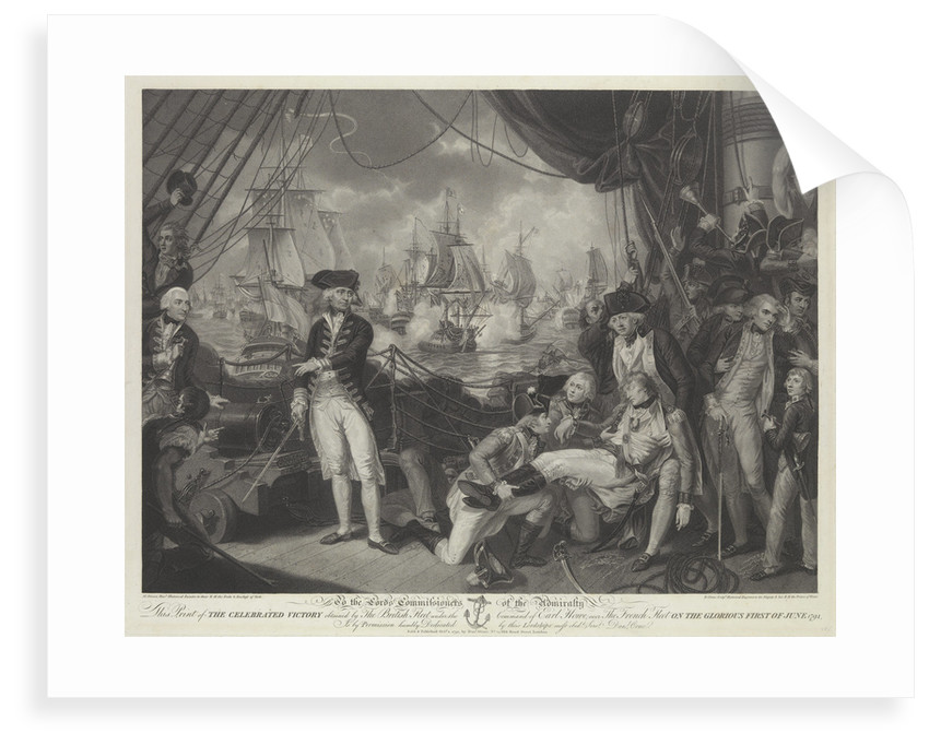 Victory of the British fleet under the Command of Earl Howe over the French fleet on the Glorious First of June 1794 by Mather Brown