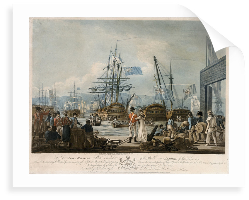 Sir James Saumarez's squadron preparing to pursue the combined squadron of France and Spain, 12 July 1801 by Jaheel Brenton
