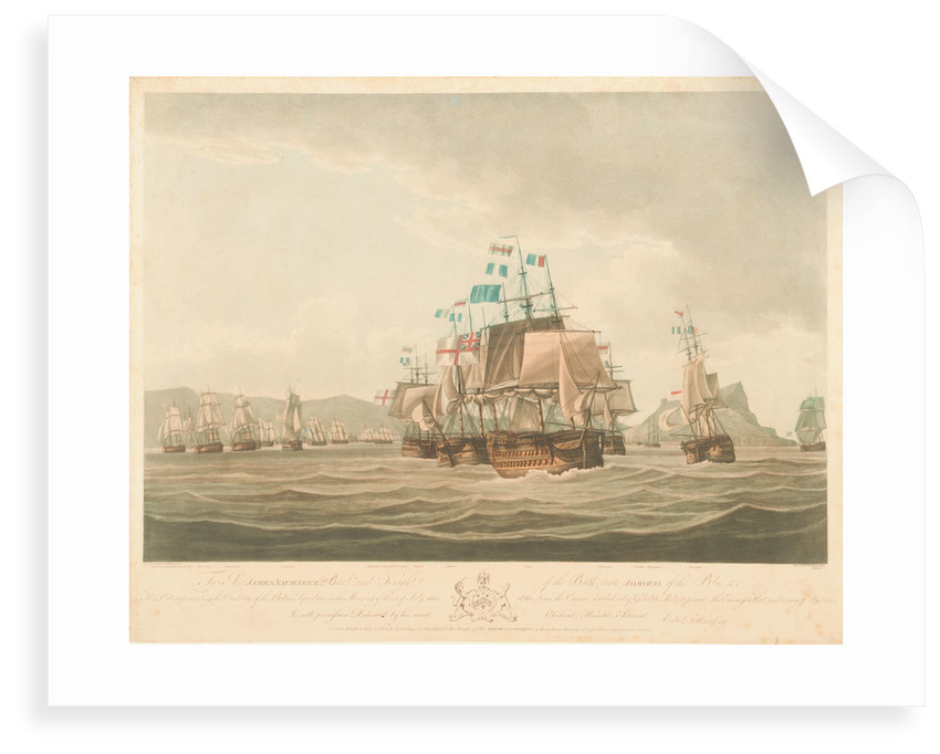 The British squadron at Gibraltar, 12 July 1801 by Jaheel Brenton