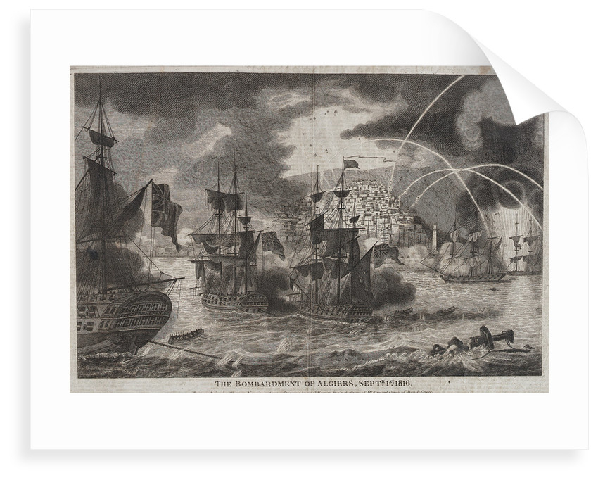 The bombardment of Algiers by Edward Orme