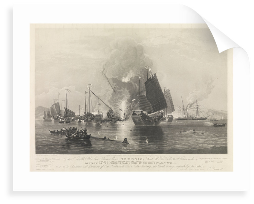 The East India Company iron steam ship 'Nemesis' by Edward Duncan