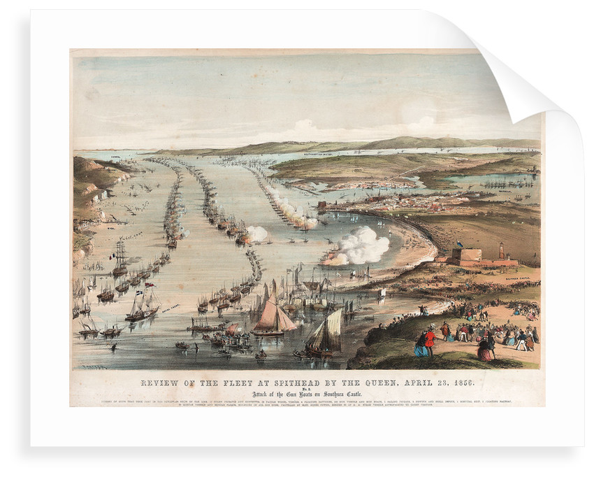 Review of the fleet at Spithead by the Queen, 23 April 1856. by Thomas Packer