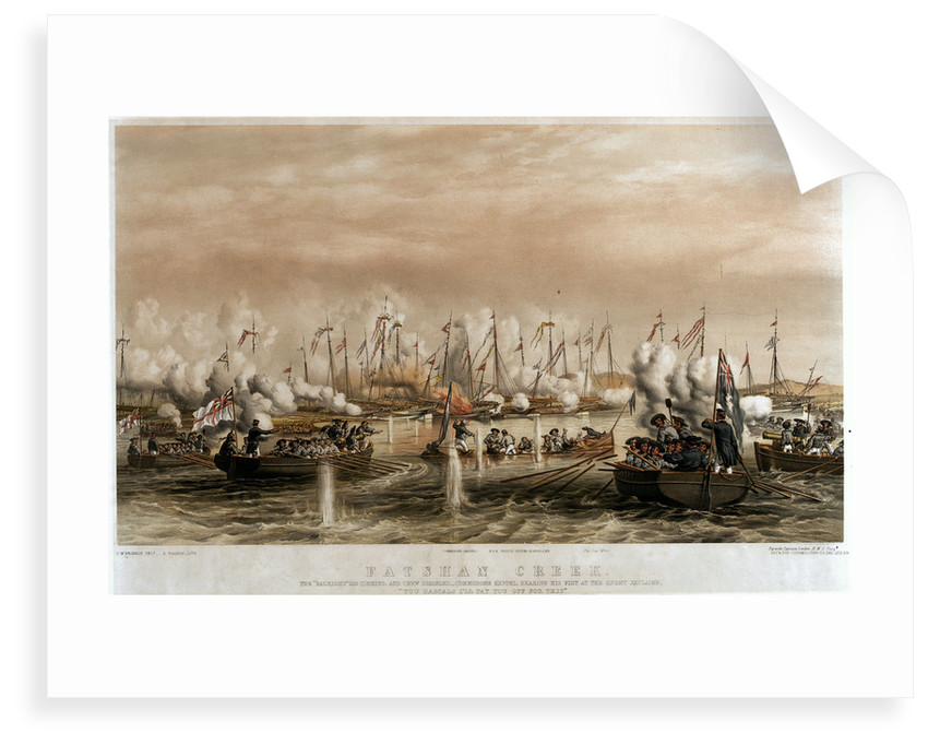 The Battle of Fatsham Creek, 1 June 1857 by Oswald Walter Brierly