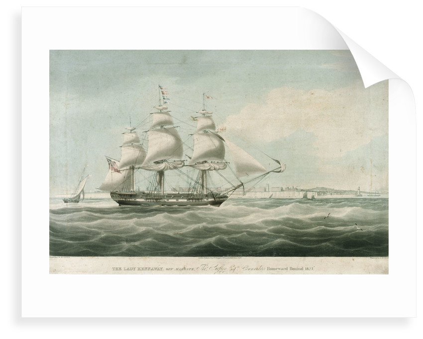 The 'Lady Kennaway' off Margate by William John Huggins
