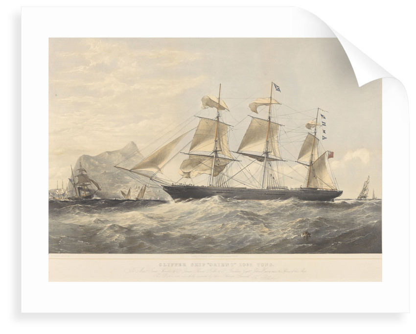 Clipper Ship 'Orient' (1853) 1032 tons by Thomas Goldsworth Dutton