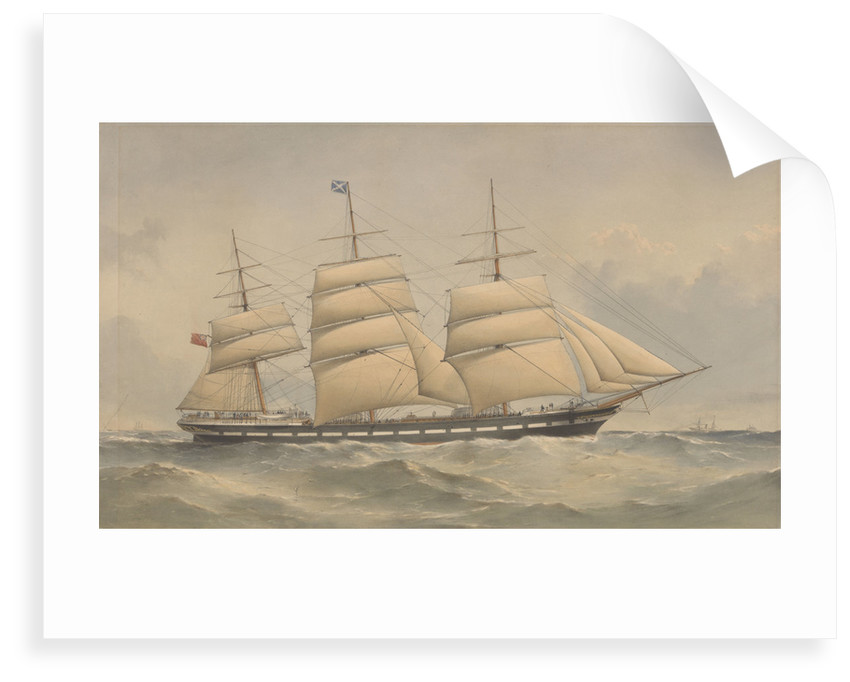Clipper Ship Aurora at sea by Thomas Goldsworth Dutton