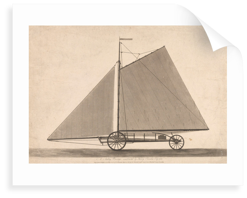 A sailing carriage constructed by Henry Oxenden Esq 1785 by James Caldwell