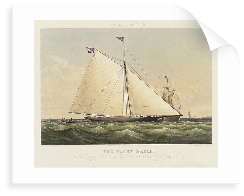 The yacht 'Maria' by Thomas Sewell Robins