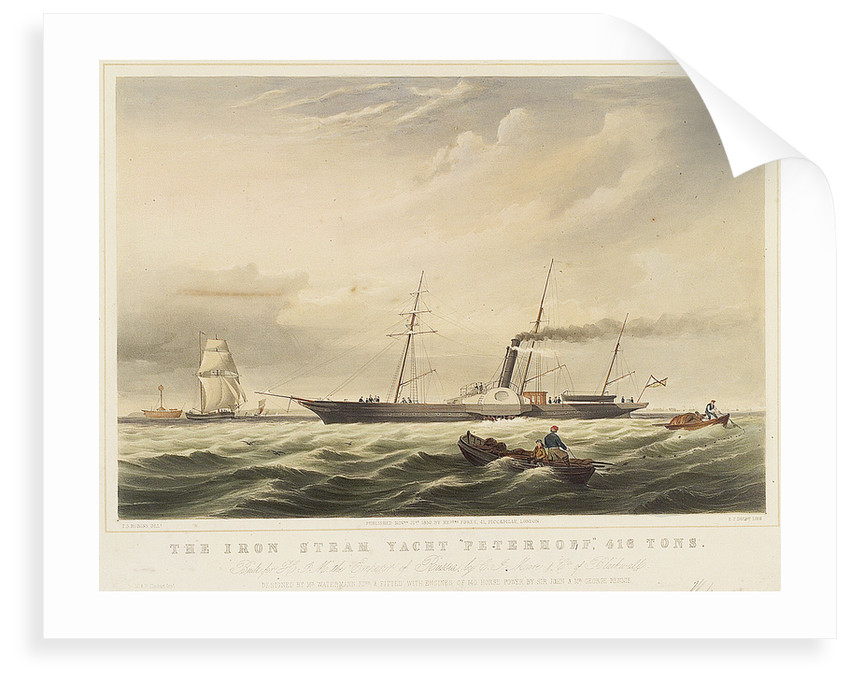 The iron steam yacht 'Peterhoff' by Thomas Sewell Robins