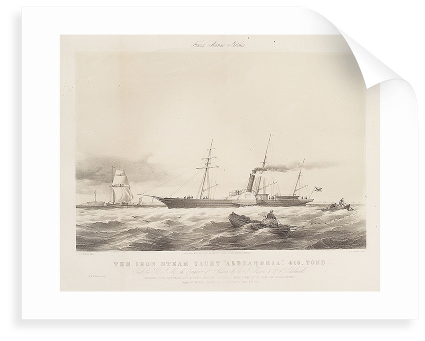 The iron steam yacht 'Alexandria' by Thomas Sewell Robins