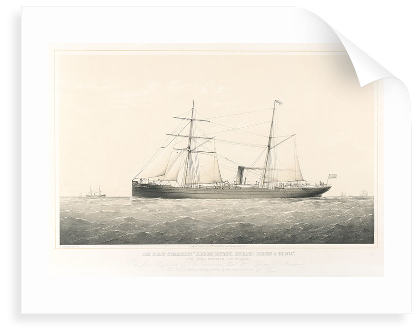 The screw steamships 'Charles Howard',  'Richard Cobden' and 'Rhone' by Thomas Goldsworth Dutton