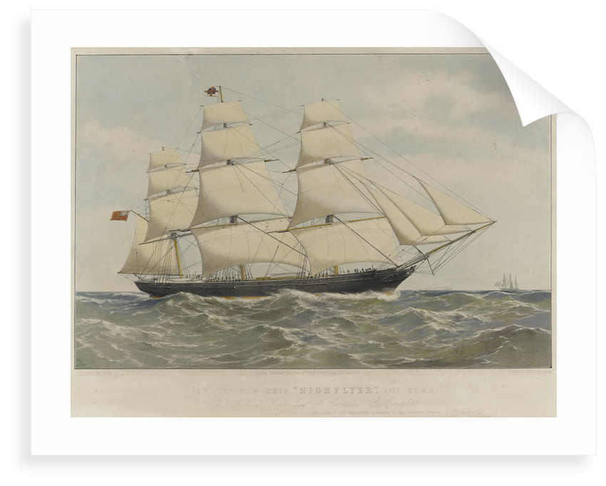 Clipper ship 'Highflyer' by Thomas Goldsworth Dutton