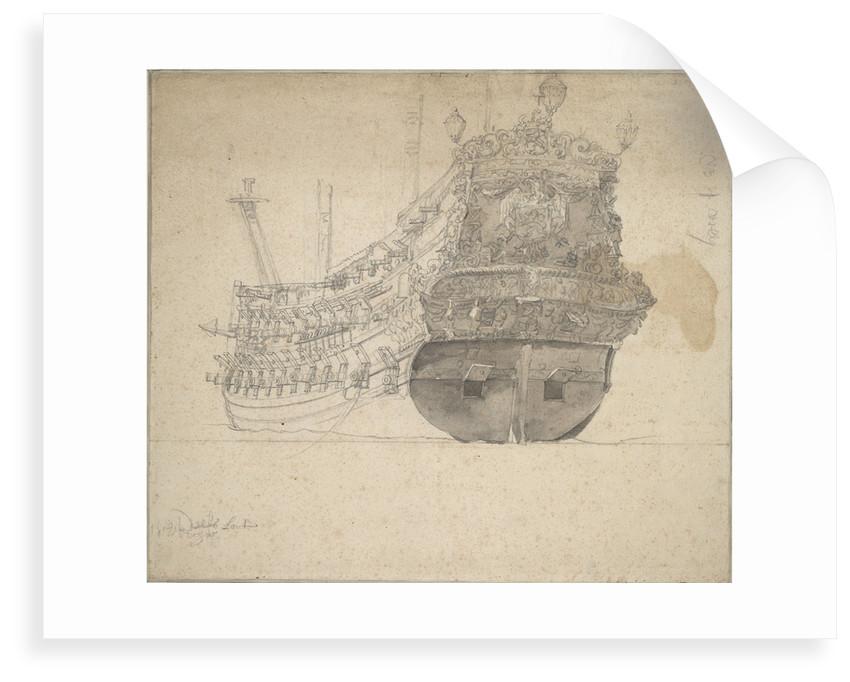 Portrait of the 'Schieland' by Willem van de Velde the Elder