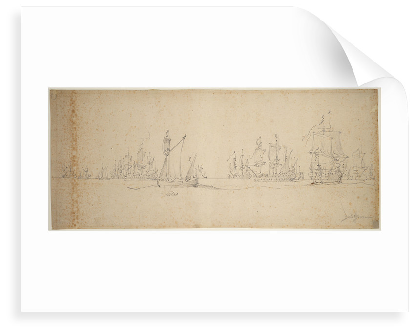 The Dutch fleet before the wind, May? 1672 by Willem van de Velde the Elder