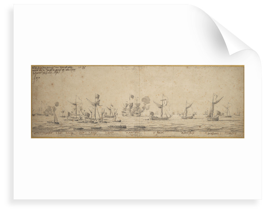 The yachts off Margate, 8 December 1677 by Willem van de Velde the Elder