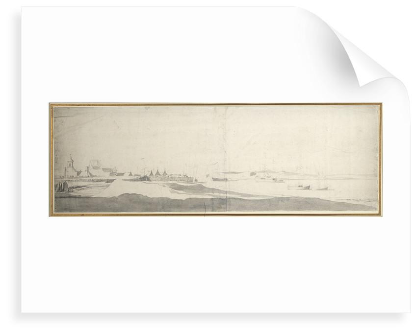 View of Sheerness? by Willem van de Velde the Elder