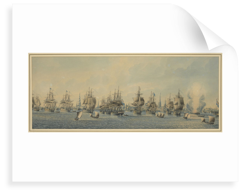 Admiral Gambier's action off Copenhagen, 1807 by Thomas Buttersworth